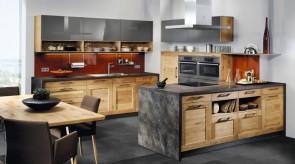 Küche Holzfront Asteiche